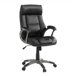 Studio RTA Manager Leather Office Chair in Black
