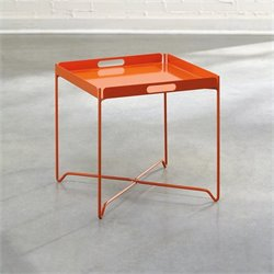 Studio RTA Soft Modern Tray Table in Orange