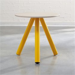 Studio RTA Soft Modern Side Table in Yellow Saffron and Pickled Ash
