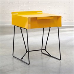 Studio RTA Soft Modern End Table in Yellow Saffron