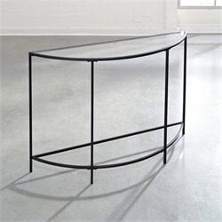 Studio RTA Soft Modern Sofa Table in Black