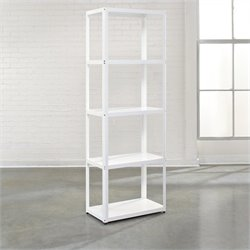 Studio RTA Soft Modern Bookcase in Arctic White