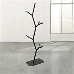 Studio RTA Soft Modern Twig Hall Tree in Black