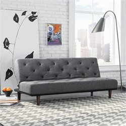 Studio RTA Premier Crash Convertible Sofa in Dark Grey