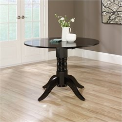 Studio RTA Harbor View Round Drop Leaf Dining Table in Black