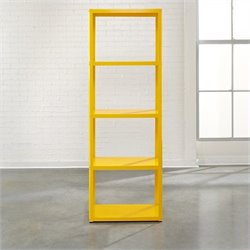 Studio RTA Soft Modern Bookcase in Yellow Saffron