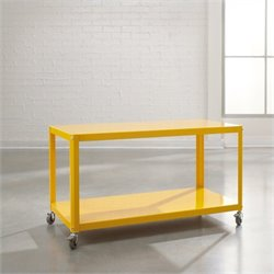 Studio RTA Soft Modern Multi-Cart in Yellow Saffron