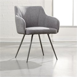 Studio RTA Soft Fabric Arm Chair in Gray