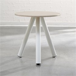 Studio RTA Soft Modern Side Table in Arctic White and Pickled Ash
