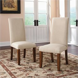 Studio RTA Carson Forge Parsons Dining Chair in Washington Cherry (Set of 2)