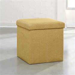 Studio RTA Soft Modern Upholstered Storage Ottoman in Sisal Basket Weave