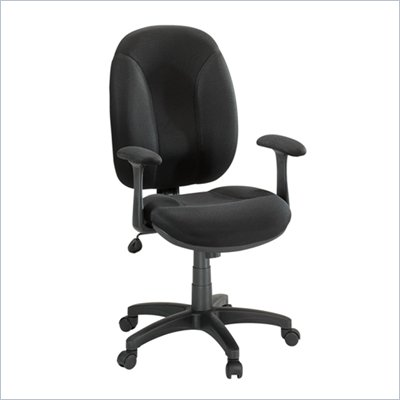 Studio RTA Gruga Black Fabric Task Chair with Arms