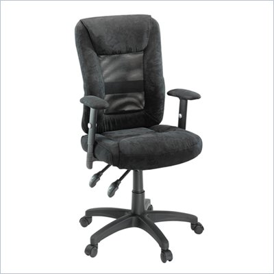 Studio RTA Gruga Black Fabric Mesh Ergonomic Chair
