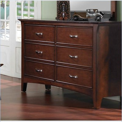 Samuel Lawrence Furniture Bridgeport Six Drawer Merlot Dresser