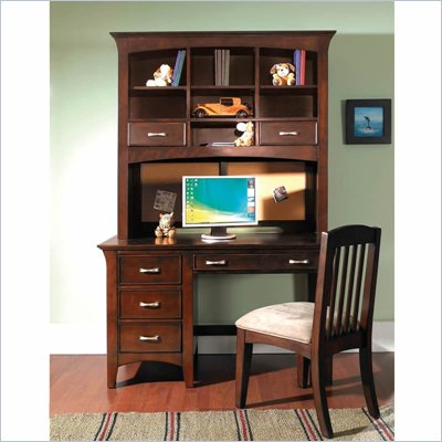 Samuel Lawrence Furniture Bridgeport Wood Computer Desk in Merlot 