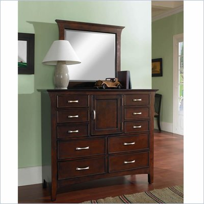Samuel Lawrence Furniture Bridgeport Bureau Merlot Mirror