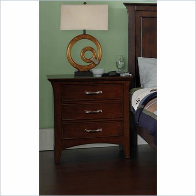 Samuel Lawrence Furniture Bridgeport Merlot 3 Drawer Nightstand