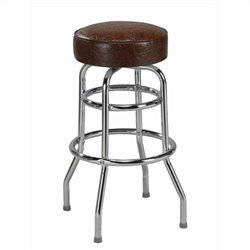 Regal Belford 30 Retro Backless Chrome Swivel Bar Stool