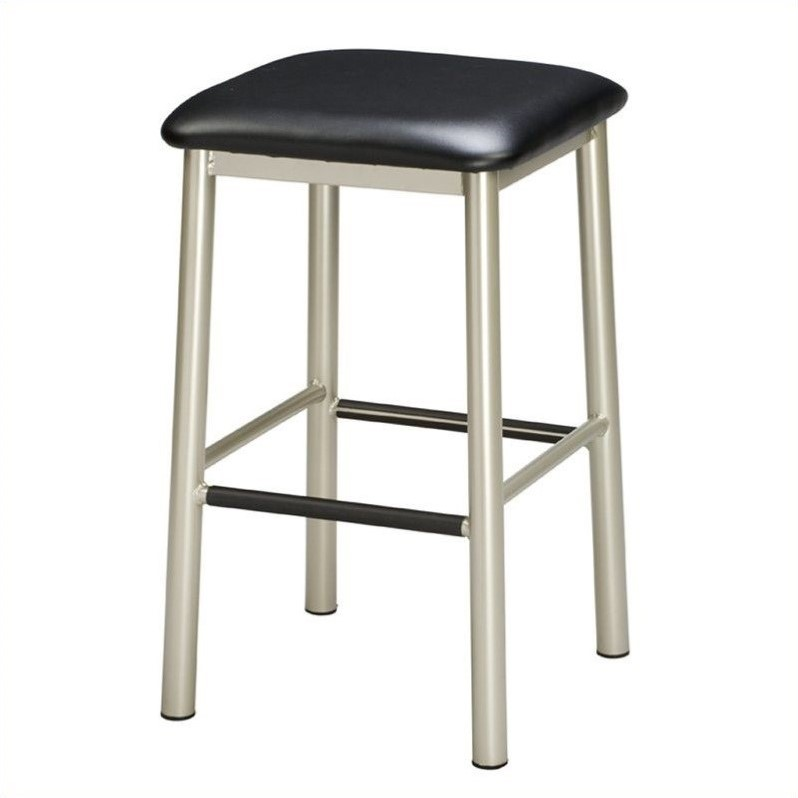 "Regal Seating Paulo 30"""" Metal Bar Stool in Black-Black Cherry T65 Grade 4 Vinyl Black Cherry T65 Grade 4 Vinyl"