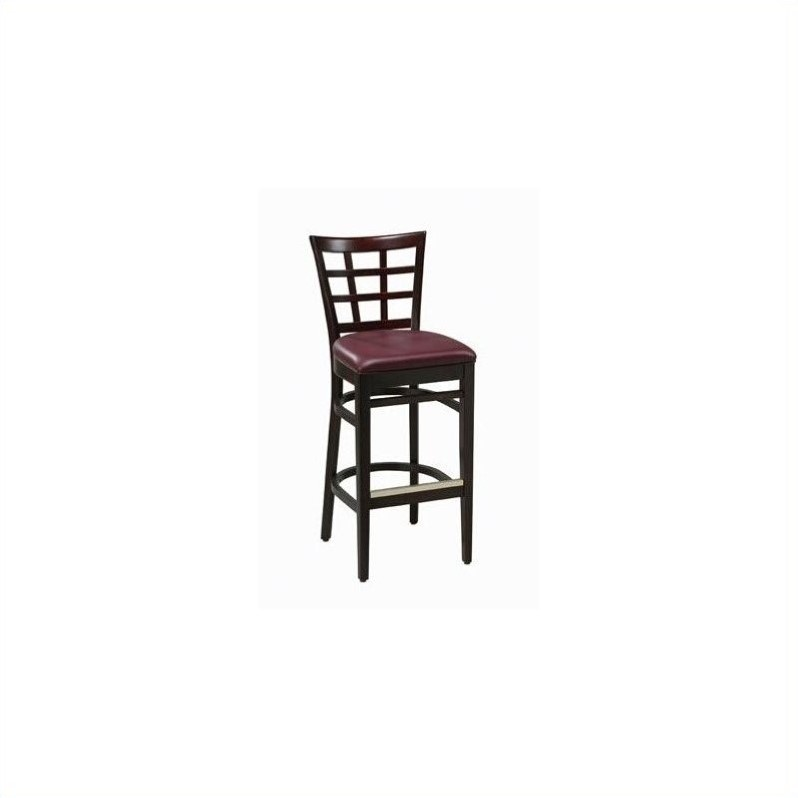 Regal Seating Walsall 30 High Cross Hatch Back Bar Stool with Upholstered Seat-Premier Metallic Copper Vinyl