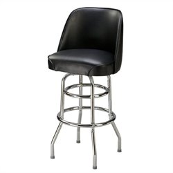 Regal Rio Blanca 30 High Retro Chrome Leg Swivel Bar Stool