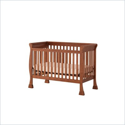 Status Furniture Birkdale Stages Convertible Wood Baby Crib in Walnut