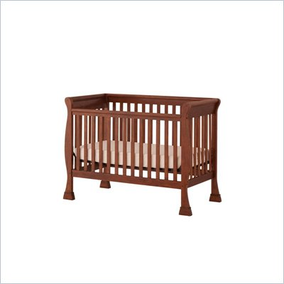 Status Furniture Birkdale Stages Convertible Wood Baby Crib in Mahogany