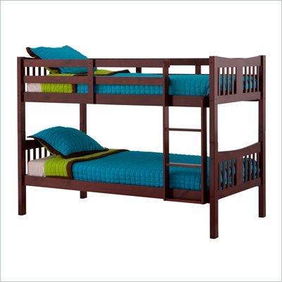 Status Furniture Caribou Kids Twin over Twin Bunk Bed in Cherry
