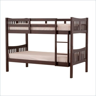 Status Furniture Caribou Kids Twin over Twin Bunk Bed in Espresso