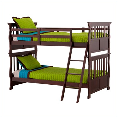 Status Furniture Carrara Twin over Twin Kids Bunk Bed in Cherry
