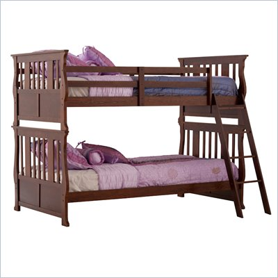 Status Furniture Carrara Twin over Twin Kids Bunk Bed in Espresso