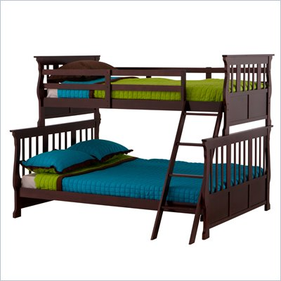 Status Furniture Carrara Twin over Full Kids Bunk Bed in Cherry