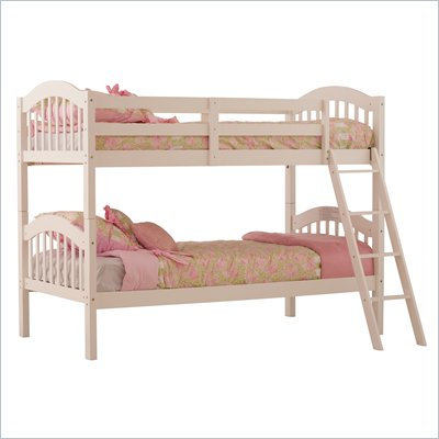 Status Furniture Long Horn Kids Twin over Twin Bunk Bed in White