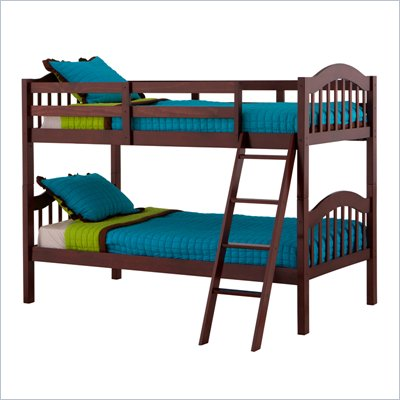 Status Furniture Long Horn Kids Twin over Twin Bunk Bed in Cherry