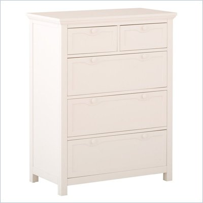 Status Furniture Montrose Baby Nursery 5-Drawer Dresser in White