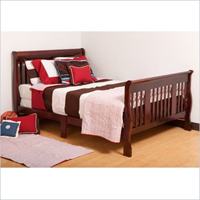 Status Furniture Tuscany Full Size Sleigh Bed in Cherry