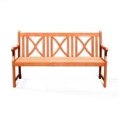 Vifah Balthazar Hardwood Patio Bench