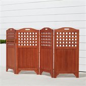 Vifah Outdoor & Indoor Hardwood Teak Privacy Screen