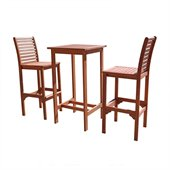 Vifah Dartmoor Hardwood Bar Dining Set
