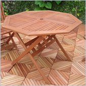 Vifah Outdoor Wood Octagonal Table