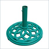 Vifah Cast Iron Green Umbrella Base