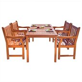 Vifah Balthazar Dining Set with 4 Baltic Armchairs