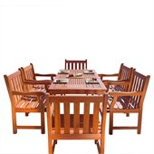 Vifah Balthazar Dining Set with 6 Baltic Armchairs
