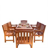 Vifah Balthazar Dining Set with 6 Ward Armchairs