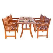 Vifah Atlantic Dining Set with 4 Baltic Armchairs