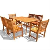 Vifah Atlantic Dining Set with 6 Baltic Armchairs