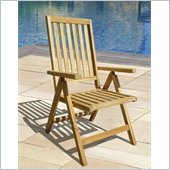 Vifah Outdoor Pos Teak Chair in Natural Finish