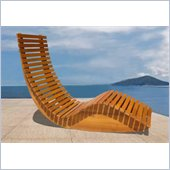 Vifah Outdoor Wood Rocking Chair