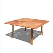 Vifah Outdoor Wood Square Table
