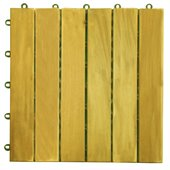 Vifah Premium Plantation Teak Interlocking Deck Tile - 6 Slats
